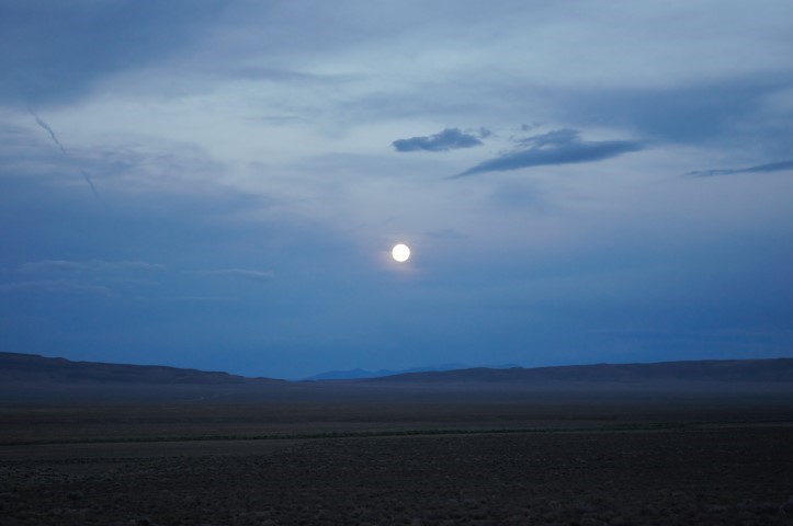Full moon across the chainman shale oil and gas prospect